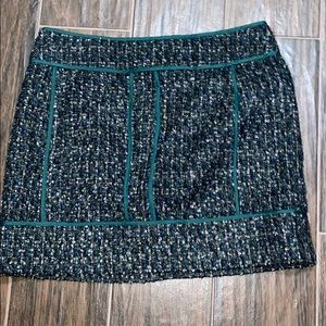 JCrew factory Forrest green mini skirt